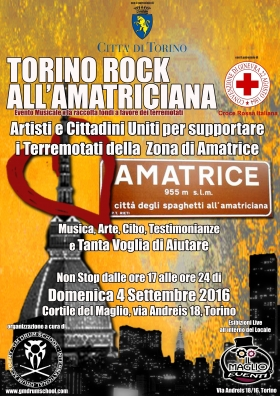 TORINO ROCK ALL'AMATRICIANA partners - Gabriella Ruggieri & partners